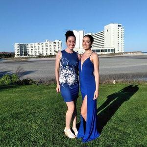 CACHET David's Bridal Prom royal blue gown